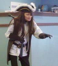 Tina teaching as Captain Kidd